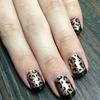 Leopard Print with Black Tips