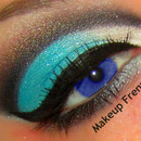Blue and Brown Cut Crease
