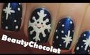 Kawaii Snowflake Nail Art - Christmas Winter Nails