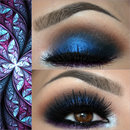 Smokey in Blue and Purple