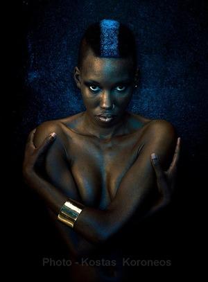 Model Kazablanka Elena photo Kostas Koroneos MUA: Giselle Karounis.. Hair Giselle Karounis..