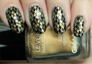 Chanel Peridot Argyle Konadicure See more photos here: http://www.swatchandlearn.com/nail-art-chanel-peridot-argyle-konadicure/