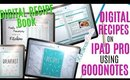GETTING STARTED WITH A DIGITAL RECIPE BOOK on ipad pro digital cook book using GoodNotes