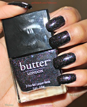 This is two coats of the gorgeous Black Knight by Butter London. ♥ One of my all time favorite polishes.