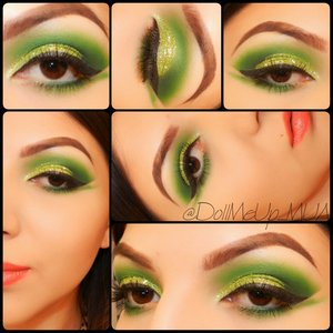 Todays Glam, I was feeling green :)