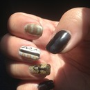 Gold black Egyptian magnetic  nails