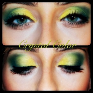 Yes, green eyes can pull off green makeup, properly MUA - Me : http://www.behance.net/CrystalColor PH - Gabriel : http://www.behance.net/Gabriel-Casanova