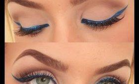 POP of Color | Bright Blue Eyeliner