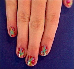 just an easy, simple, yet flashy nail look perfect for summer