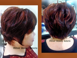 The fusion of short layer and bob cutting style with some color and highlight