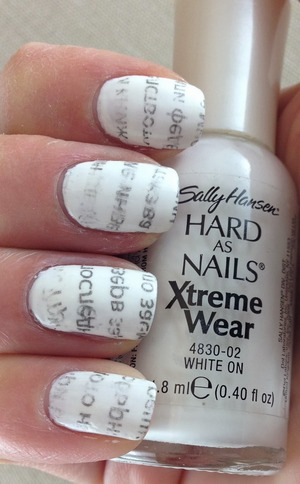 For more info please visit my blog. Newspaper nails