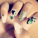 Camouflage Bling Nails