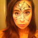 Ignore the eyes /.-, rough draft for Halloween! (Broken Porcelain doll)