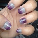 Grey and Purple Ombré Nails 2