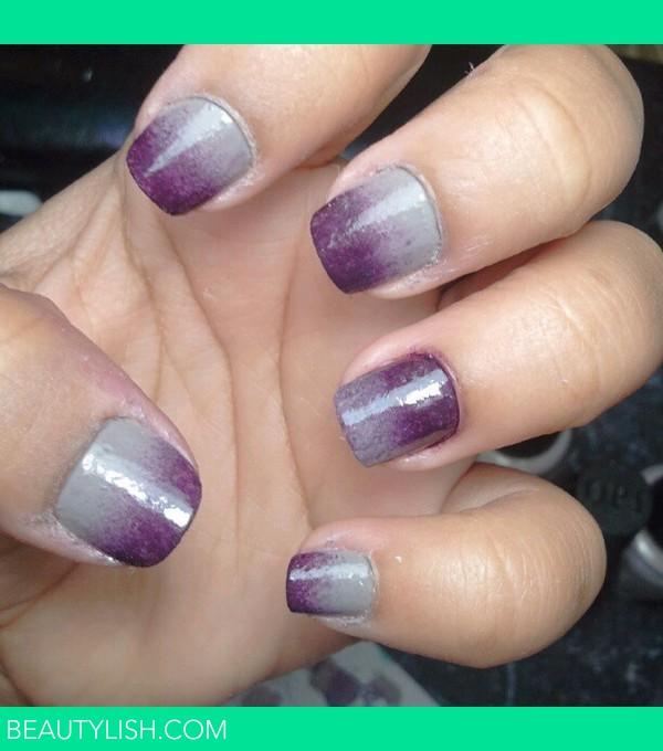 Grey And Purple Ombr 233 Nails 2 Leysha J S Leyshaj Photo Beautylish