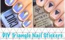 DIY Triangle Nail Stickers by The Crafty Ninja
