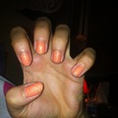 Orange suger nails