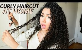 HOW TO CUT CURLY HAIR AT HOME / DIY CURLY CUT