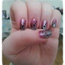 pink to black gradient