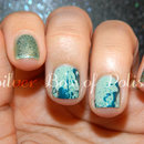 Glitter and splatter nails