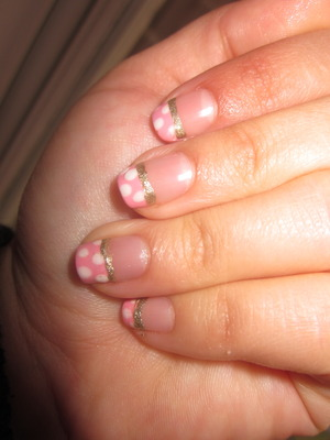 Polka dots and glitter  Inspiration from cutepolish x. :) http://www.beautylish.com/v/nxsmi/polka-dot-nails-for-beginners