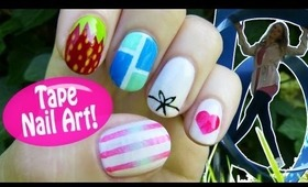 Tape Nail Art! 5 Nail Art Designs & Ideas Using a Tape!