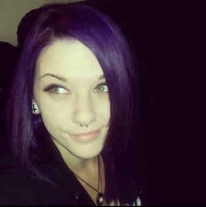 I love my bright purple hair! I used:  - Ion color brilliance brights: fuscia (base over brassy-blonde hair) - Ion color brilliance brights: purple - Manic Panic: purple haze