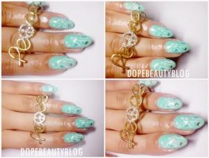 Amazing nail art. I love that base color.