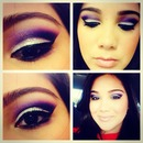 Vcruzbebe - Silver & purple eyeshadow