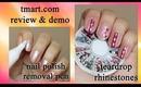 tmart.com Nail Polish Removal Pen/Teardrop Rhinestones Review and Nail Design
