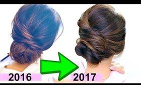 "★ 3 BEST ""EASY"" ELEGANT BUN HAIRSTYLES of 2017 💜  VALENTINE'S DAY UPDO Hairstyles"