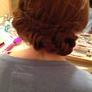 Boho chic fishtail updo