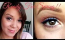 Ready For Spring! Pink And Blue Eyeliner Tutorial