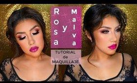Maquillaje ROSA  Y MALVA / Mauve & pink makeup tutorial   auroramakeup