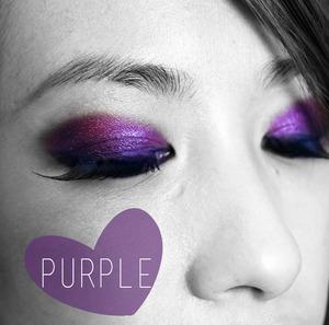 Purple Eye Makeup www.kakabeautyblog.com
