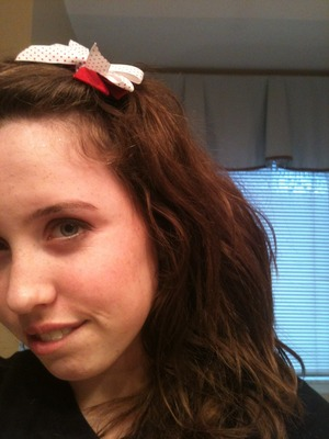 I got my Christmas bow for $1 in the clearance section at Target. Helps ya get in the spirit!