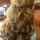 Half-down w/loose curls...by Calista Brides Hair & Makeup Artistry