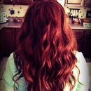 Bouncy red curls❤💜💙