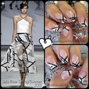 Black and White Nail Art | Lela Rose Spring 2015 Inspired