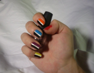 Neontastic nails! Video tutorial coming up soon, breakdown of the colours in my blog! FIRST EVER video tutorial here: http://www.youtube.com/watch?v=9SflESA7Jyk  Blog here: www.rivuletsbeauty.blogspot.com