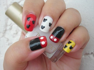 ☼ Mickey Mouse Nails for my nephew's birthday ☼ Uñas de Mickey Mouse para el cumpleaños de mi sobrino