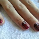 Fall Shellac Ombre- Red Wine