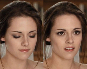 Bella's wedding day look in Twilight Breaking Dawn PT1