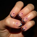 French nail art design