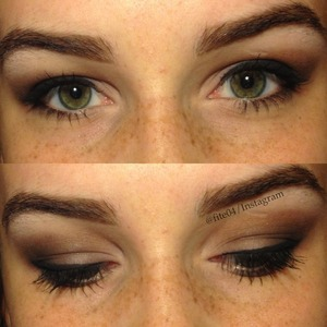 """Eyeshadows~ Highlight- Stila's """"In the Moment"""" pallet & the other two colors are from Elf's 144 Color pallet.  Liner- Almay's liquid liner Mascara- Two Faced's """"Lash Injection"""" Eybrows- Two Faced's """"Brow Envy"""" kit"""