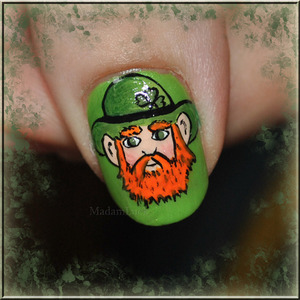 hand painted irish leprechaun by me :)