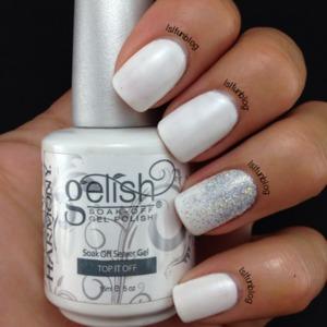 white summer nails gradient, gelish