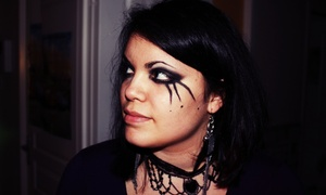make up i did for a friends Halloween/fancy dress party ! (hostess' friend)