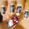 Hello Kitty0 Back to school nails