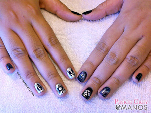 Exo fan-requested nail art Read more at: http://pinkiegrey.com/post/40972657510/exoplanet-korean-pop-band-exo-performed-in-manila